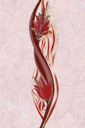 Вставка Golden Tile Александрия розовый В15361 200х300