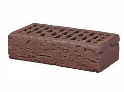 Кирпич лицевой керамический «Темный Шоколад» «Кора дерева» пустотелый одинарный