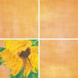 Декор Нефрит-керамика Акварель 04-01-1-14-03-35-072-1 20x20 Оранжевый