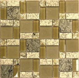 Мозаика Bonаparte Liberty -1 желтая глянцевая 30x30