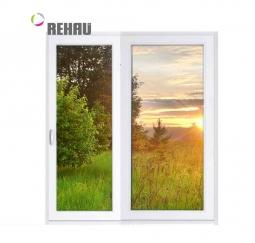 Окно раздвижное Rehau 2100x2000 двухстворчатое ЛР800/ПГ1200 2 стеклопакет