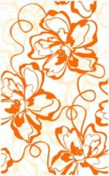 Декор Нефрит-керамика Кураж 2 04-01-1-09-00-35-050-0 40x25 Оранжевый