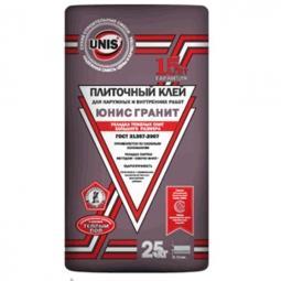 Клей Unis Гранит для укладки тяжелых плит большого размера для наружных и внутренних работ 25 кг