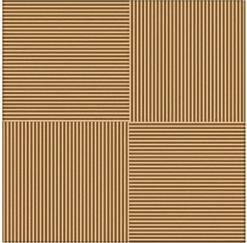 Плитка для пола Vizavi Lines Brown 33x33