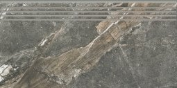Ступени Kerranova Genesis структурированный темно-серый29.4x60