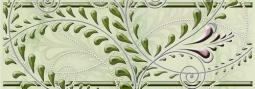 Бордюр Береза-керамика Елена каприз Фриз зеленый 20х7