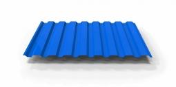 Профнастил МП-20 RAL синий 5005 1100х0.35