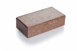 Брусчатка клинкерная «Шоколад флеш» «Тоффи» 100х200х52