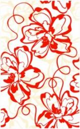 Декор Нефрит-керамика Кураж 2 04-01-1-09-00-45-050-0 40x25 Красный