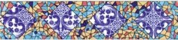 Бордюр Сокол Гауди 693 орнамент глянцевый 7х33