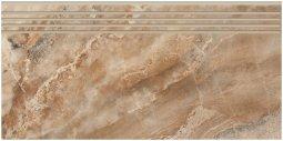 Ступени Kerranova Premium marble полированный коричневый 29.4x60